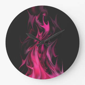 Distorted Pink Fire Clock