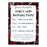 "Distorted Red Graphic 5"" X 7"" Invitation Card"