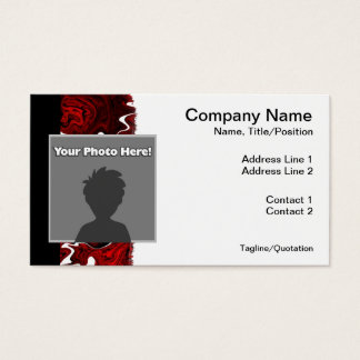 Distorted Red Graphic Business Card