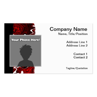 Distorted Red Graphic Business Cards