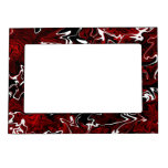 Distorted Red Graphic Magnetic Frames