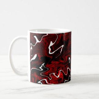 Distorted Red Graphic Mug