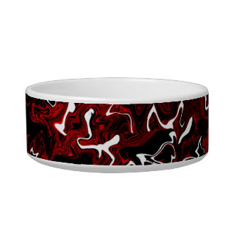 Distorted Red Graphic Pet Bowl