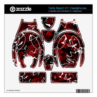 Distorted Red Graphic Turtle Beach X11 Skin