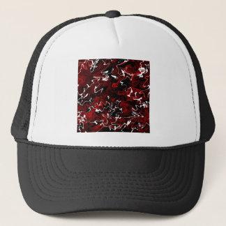 Distorted Red Graphic Trucker Hat