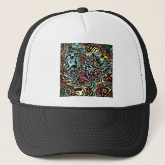 Distorted Reflection of Colors Trucker Hat