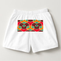 Distorted shapes in retro colors pattern boxers
