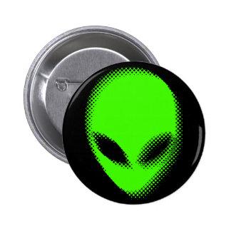 Distorted Space Alien Head Button