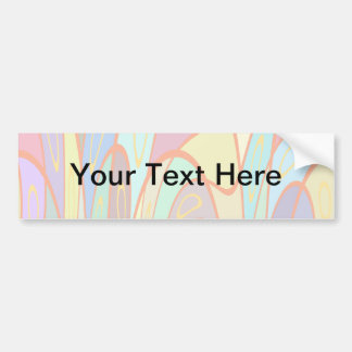 Distorted squares and circles bumper sticker