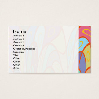 Distorted squares and circles business card