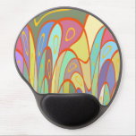 "Distorted squares and circles gel mouse pad<br><div class=""desc"">Distorted colorful squares and circles. Geometric digital art.</div>"