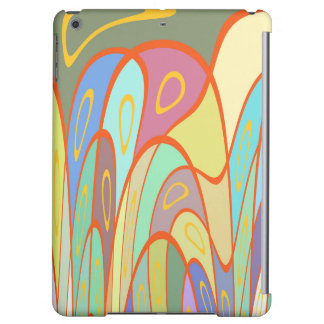 Distorted squares and circles iPad air covers