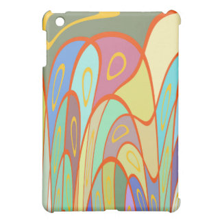 Distorted squares and circles iPad mini covers
