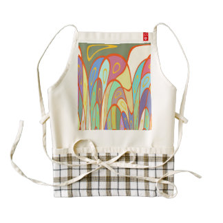 Distorted squares and circles zazzle HEART apron