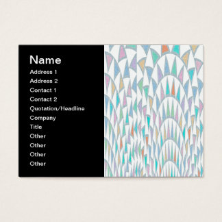 Distorted Triangles Pastel Pattern Business Card