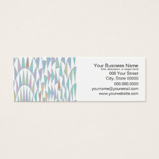 Distorted Triangles Pastel Pattern Mini Business Card