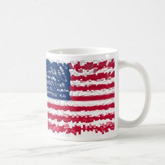 Distorted US Flag Coffee Mug