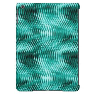 Distorted Waves, Teal-iPad Air Case