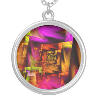Distortion 1824 silver plated necklace