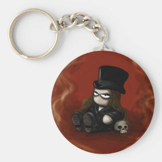 Distortion Circus on a chain Basic Round Button Keychain
