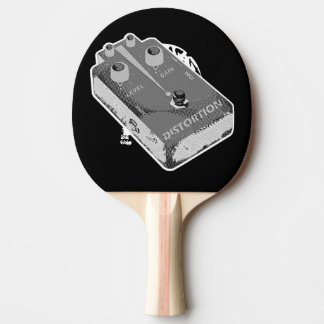 Distortion Pedal Black and White Ping-Pong Paddle