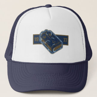 Distortion Pedal Blue/Gold 1977 Trucker Hat