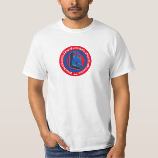 Distortion Pedal Blue Red T-Shirt