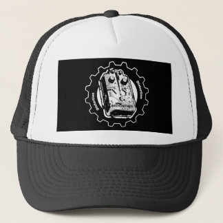 Distortion PEDAL Gear - Black & White Distressed Trucker Hat