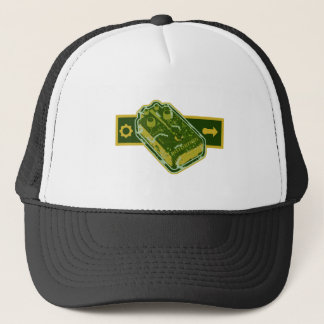 Distortion Pedal - Green & Mustard Distressed Trucker Hat