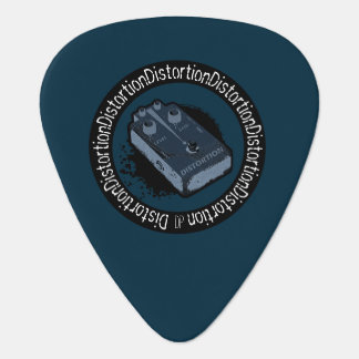 Distortion Pedal Two Tone Blue Guitar Pick