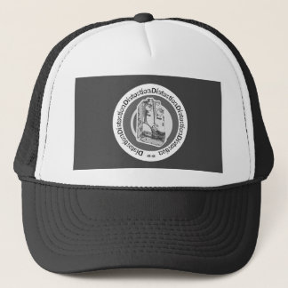 Distortion Pedal White Grey Style 3 Trucker Hat