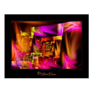 Distortion Postcard