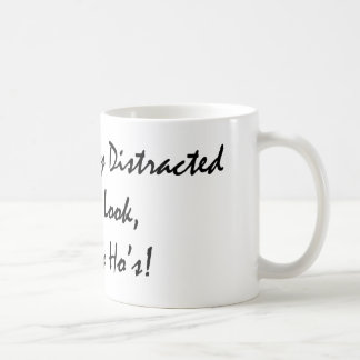 distracted by tims classic white coffee mug