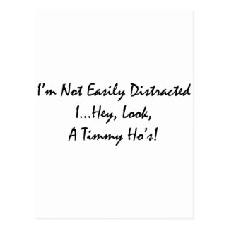 distracted by tims postcard