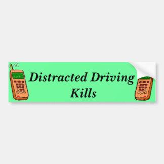 Distracted Driving Bumper Sticker Car Bumper Sticker