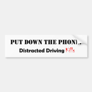 Distracted Driving Car Bumper Sticker