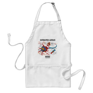 Distracted Nerves Inside (Synapse) Adult Apron