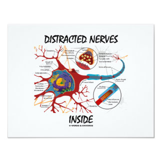 Distracted Nerves Inside (Synapse) 4.25x5.5 Paper Invitation Card
