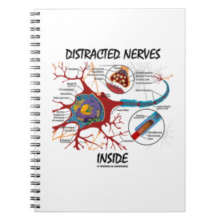Distracted Nerves Inside (Synapse) Spiral Notebook
