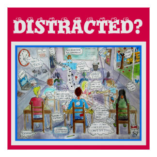 DISTRACTED? Poster (ADHD, Autism, Aspergers)