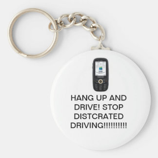 ¡Distracted que conduce (NO)!!!!!!!!!!!!! Llavero Redondo Tipo Pin