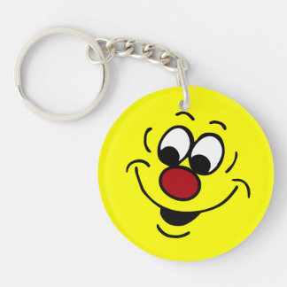 Distracted Smiley Face Grumpey Acrylic Key Chains