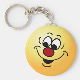 Distracted Smiley Face Grumpey Keychain