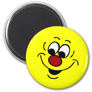 Distracted Smiley Face Grumpey Magnet