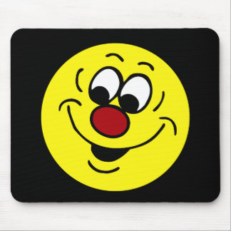 Distracted Smiley Face Grumpey Mouse Pad