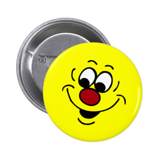 Distracted Smiley Face Grumpey Pinback Button