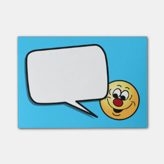 Distracted Smiley Face Grumpey Post-It Notes