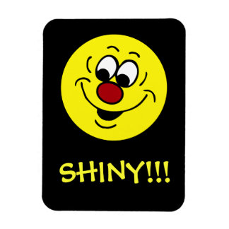 Distracted Smiley Face Grumpey Rectangle Magnet