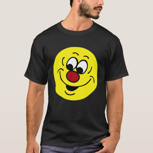 Distracted Smiley Face Grumpey T-Shirt