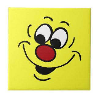 Distracted Smiley Face Grumpey Tile